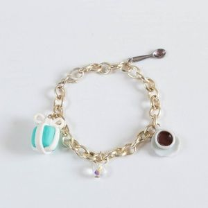 ✨10 for $10✨ Turquoise Gift Box Charm Bracelet